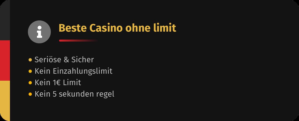 Beste Casinos ohne Limit