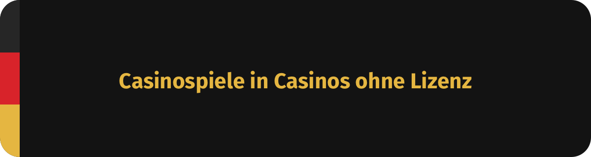 Permainan kasino di kasino tanpa lisensi