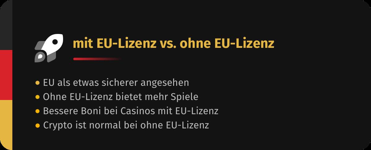Mit EU-Lizenz oder ohne EU-Lizenz?